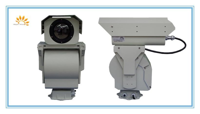 Infrared PTZ Thermal Imaging Camera 6KM , Long Range UFPA Sensor Camera